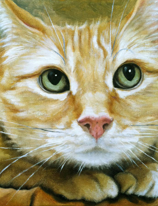 Commissioned cat painting in oils by Lisa LaTourette
